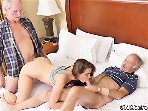 elderly fellow penetrates introducing Dukke