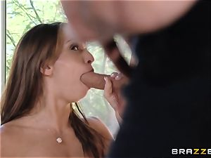 India Summers demonstrates Sara Luvv how to fuck her dude