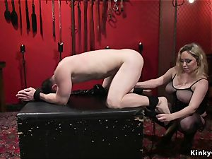 buxom domme buttfuck smashes masculine