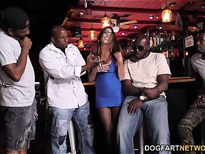 Dava Foxx multiracial gang-bang