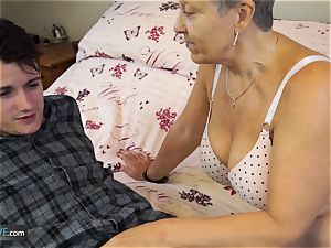 AGEDLOVE grannie Savana ravaged with truly rock-hard stick