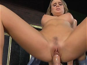 Alexis Adams fucks the manager in the bar