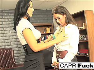 Capri Cavanni and Zoey Holloway nail