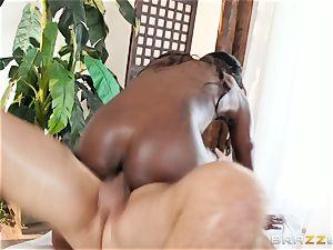 Kerian Lee slams his lubed manmeat into molten black babe Ana Foxxx