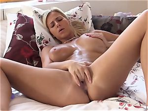 QUEST FOR ejaculation - Czech ash-blonde ejaculations in super-fucking-hot solo