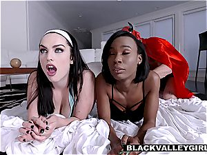 girlfriends have a sleepover lovemaking