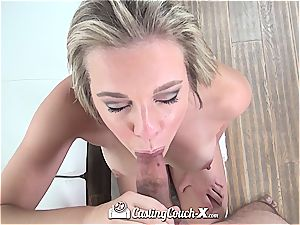 mouth-watering Tiffany Dawson milks before getting pulverized