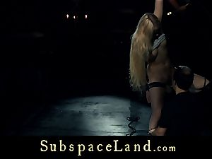 slave girl blondie pleasured and disciplined in submission