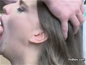 ass butt-plug stealing dark haired splooged and poked