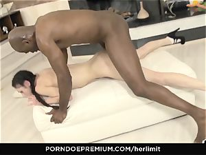 HER restrict - Arwen Gold tough fuckfest with black guy