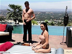 exquisite chesty masseuse Jasmine Jae gets dual titfucked