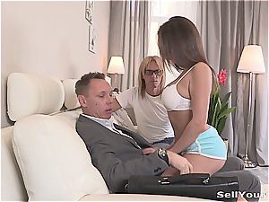 wife has a good time with her husband's boss