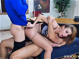 Britney Amber getting pounded in her booty and beaver