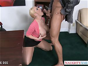 awesome Sophie Dee screwing in the office