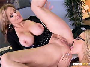 chief Julia ann plows her luxurious assistant Olivia Austin