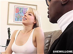 sexy blond girlfriend pulverizes bbc For cheating boyfriend