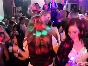 european amateurs munching labia on the dancefloor