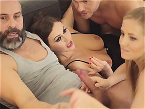 LOS CONSOLADORES - red-hot swinger 4some with scorching honies