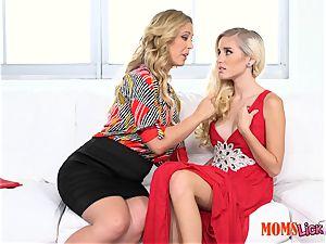 vag pie stepmom tempts her stepdaughter Naomi woods & Cherie Deville