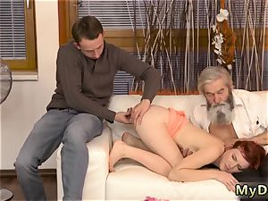fledgling daddy dom unexpected practice with an older gentleman
