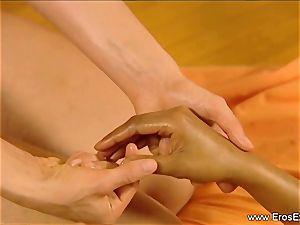 Slow voluptuous rubdown touch For femmes