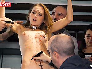 Ukrainian stunner Gets numerous ejaculations in super-hot bdsm soiree