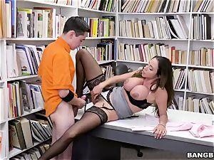 superb mexican funbags tutor Ariella Ferrera tempts young schoolboy