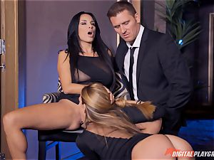 Anissa Kate and Subil bend glide some lollipop down their rosy pretty tacos