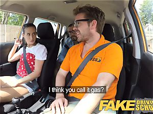 faux Driving school kinky learners muddy secret