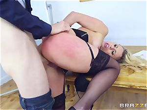 Mature Dean Brittany Bardot gets disciplined by her college girl