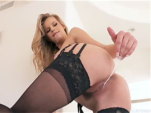 lean straletka with petite fun bags gets drilled by a fat dark-hued monster manmeat