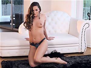 Tori black fingers her vulva till she climaxes
