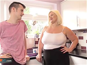 Agedlove mature round blow-job and doggystyle