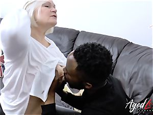 AgedLovE Lacey Starr gets interracial hard-core