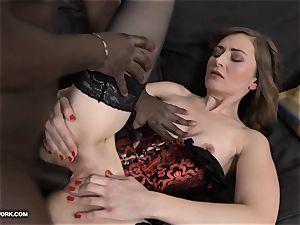 milf anal invasion fuck-fest with dark-hued man screaming in pleasure big black cock