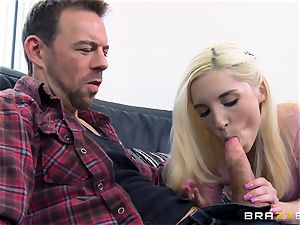 Piper Perri drills the old stud next door