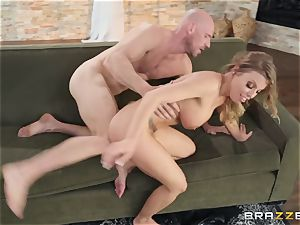 Britney Amber taking spunk on her face