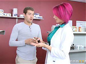 splendid chemist Anna Bell Peaks likes a clients shaft