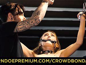 CROWD restrain bondage puny marionette nymphomaniac fetish group hookup