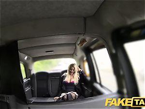 fake taxi messy boner liking platinum-blonde with good milk cans