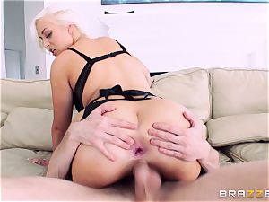 Jenna Ivory very first rectal in her taut ass