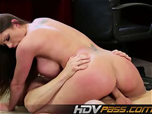HDVPass buxom Brooklyn shows off those huge orbs