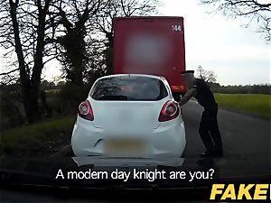 fake Cop Unfaithful girlfriend feels the power