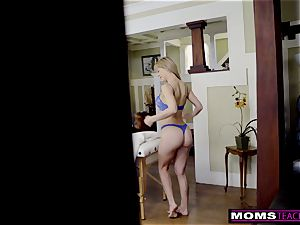 huge-boobed cougar Gets warm Mother's Day 3 way! S8:E4