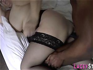 grandmother licks dark-hued impaler