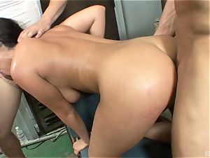 wonderful brown-haired with phat cupcakes Charley pursue