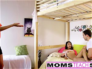 MomsTeachSex - mummy And daughter have fun With father Gone