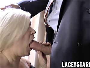 LACEYSTARR - wildest grandma analled before cumshot