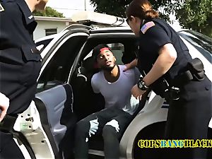 skinny suspect gets his man rod deep throated and taken by mischievous mummy cops