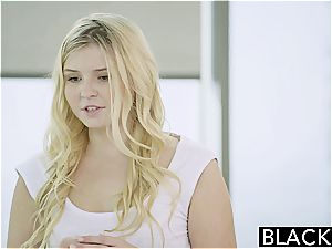 BLACKED light-haired teen Melissa May pounds Her Moms beau